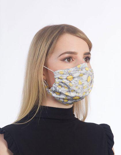 Blumenmuster Maske made in Hamburg
