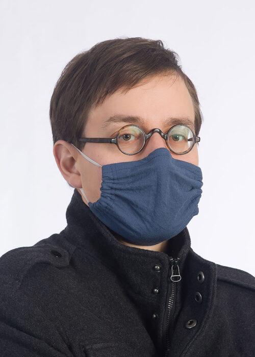 jeansblau Maske made in Hamburg