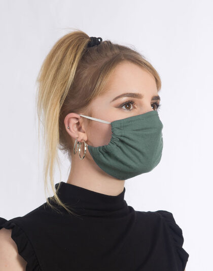 dunkelgrüne Maske made in Hamburg
