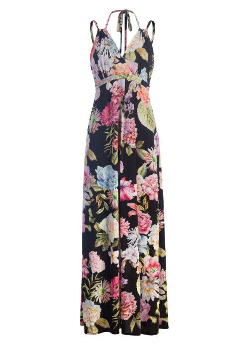 Langes Trägerkleid mit Blumenprint